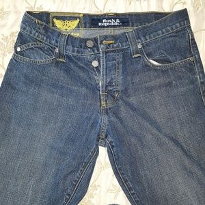 Rock & Republic Henlee Bootcut Buttonfly Jeans, 33